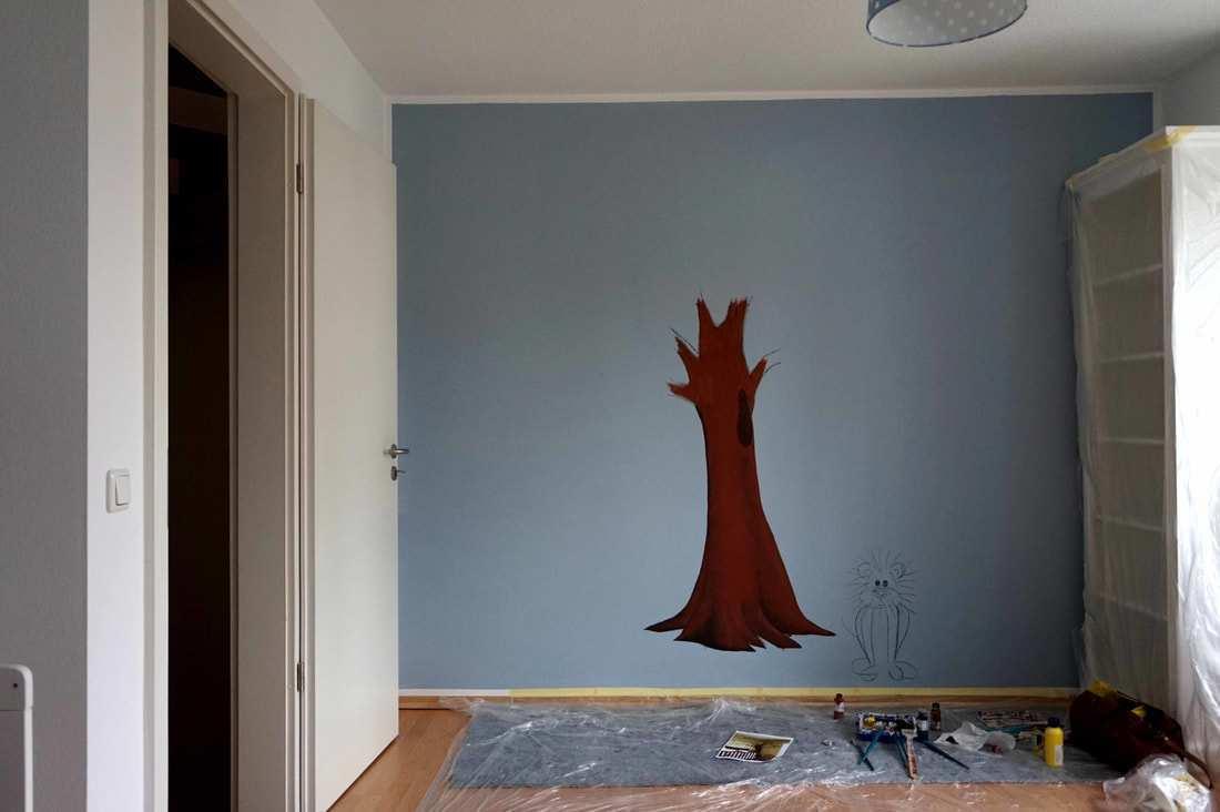 Wandmalerei Fur Babyzimmer Kinderzimmer Ausmalen Munchen Home