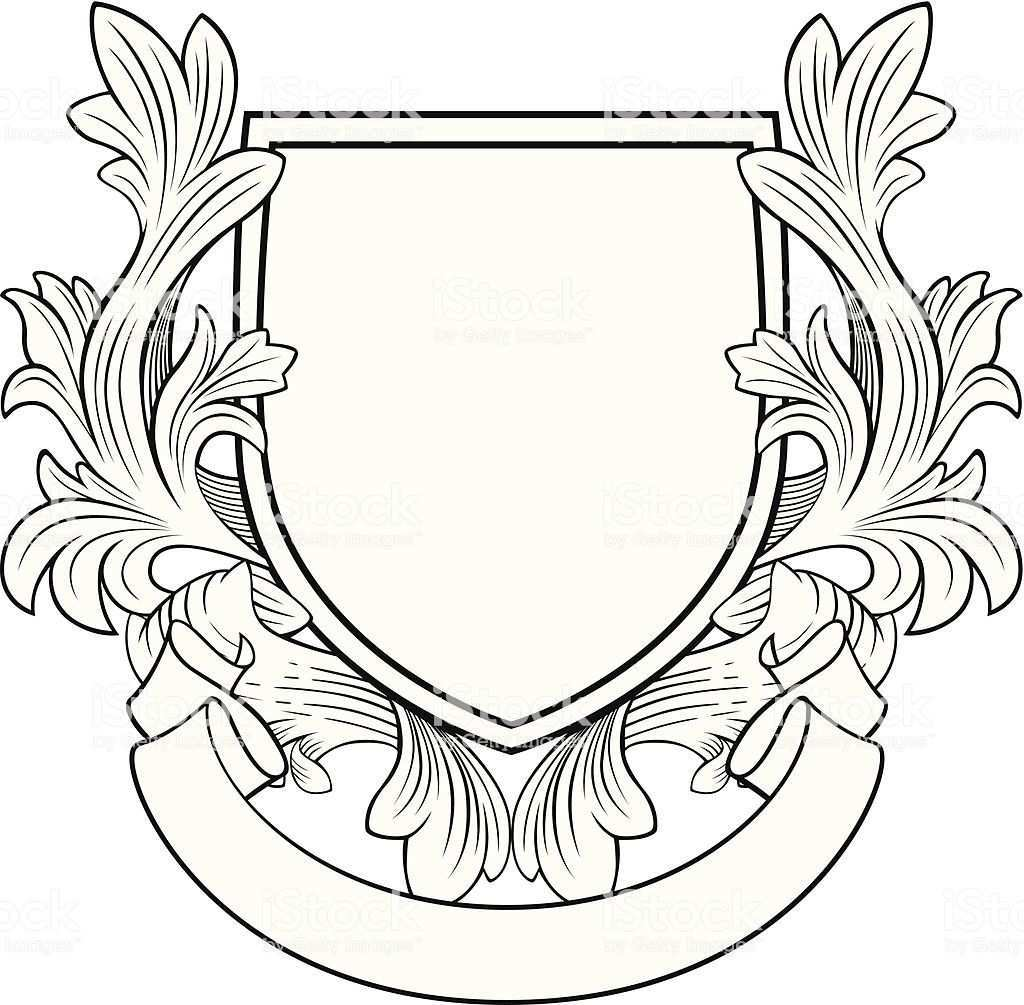 Retro Stil Shield Und Banner Lizenzfrei Wappen Vektorgrafik In 2020 Shield Drawing Free Vector Art Coat Of Arms