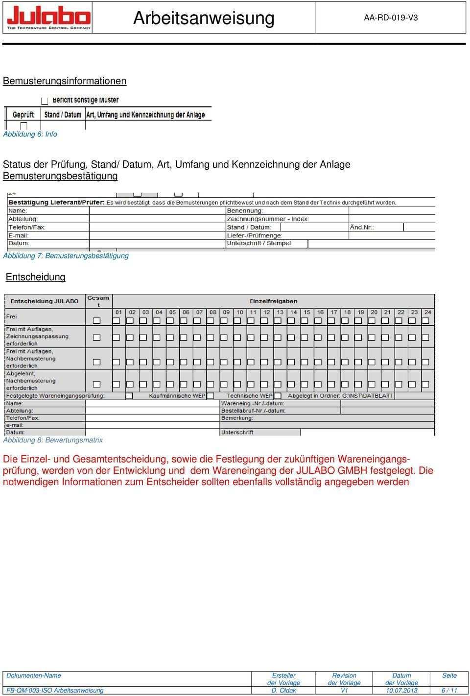 Arbeitsanweisung Erstmusterprufbericht Empb Pdf Kostenfreier Download