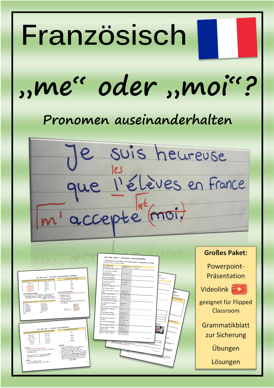 Me Oder Moi Objektpronomen Unverbundene Personalpronomen In 2020 Personalpronomen Flipped Classroom Lernen