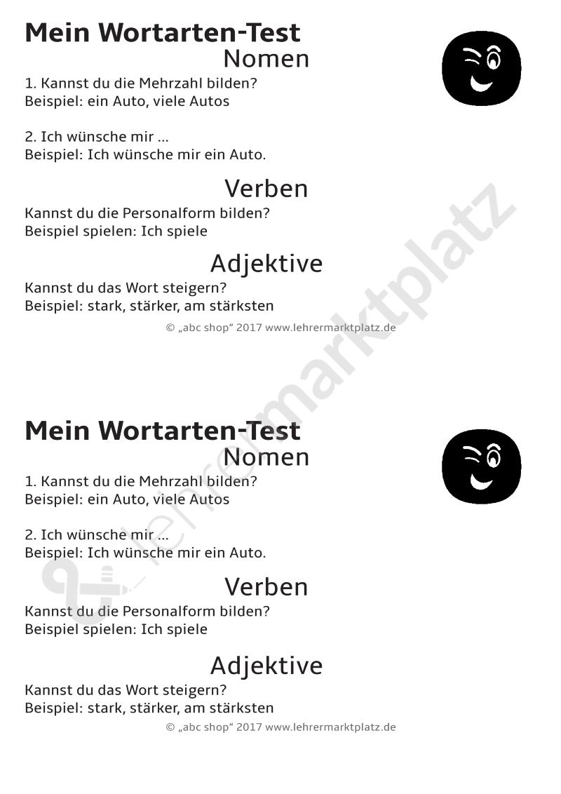 Wortarten Unterscheiden Nomen Verben Und Adjektive Zuordnen Unterrichtsmaterial Im Fach Deutsch Adjektive Wortarten Adjektive Grundschule
