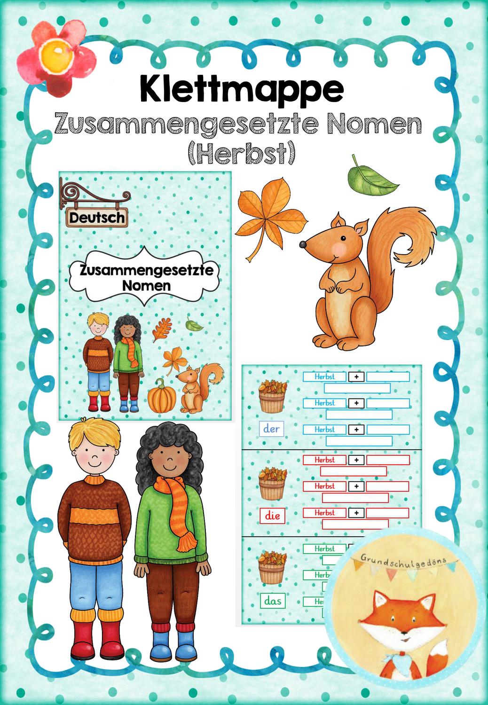 Klettmappe Zusammengesetzte Nomen Herbst Unterrichtsmaterial In Den Fachern Deutsch Fachubergreifendes Zusammengesetzte Nomen Nomen Unterrichtsmaterial