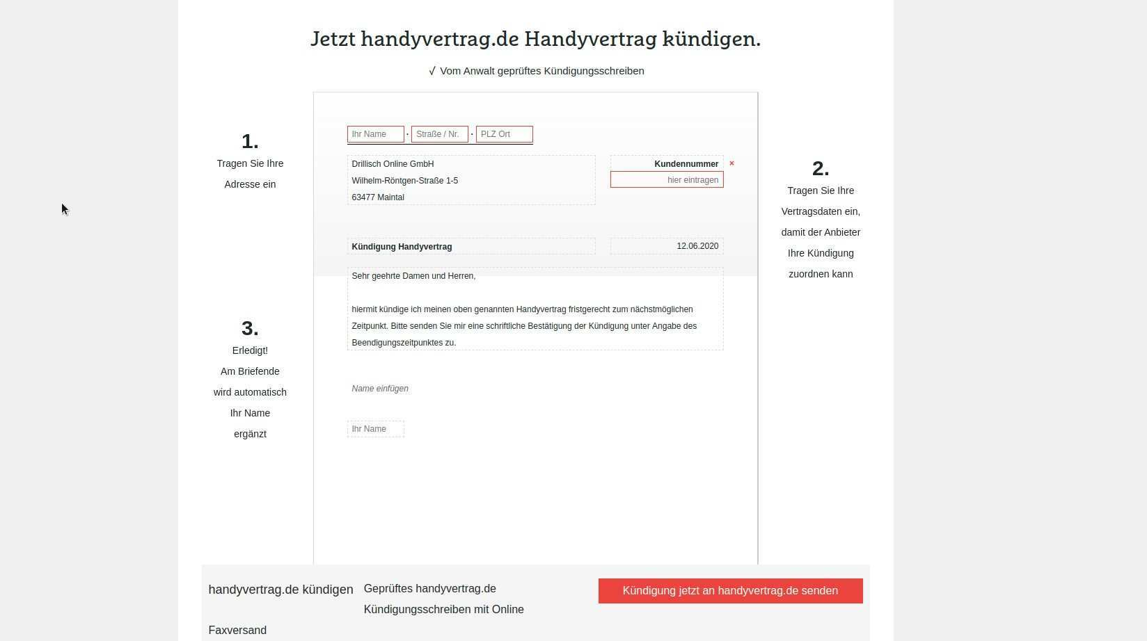 Handyvertrag De Kundigen Anleitung Mit Vorlage Und Muster Chip