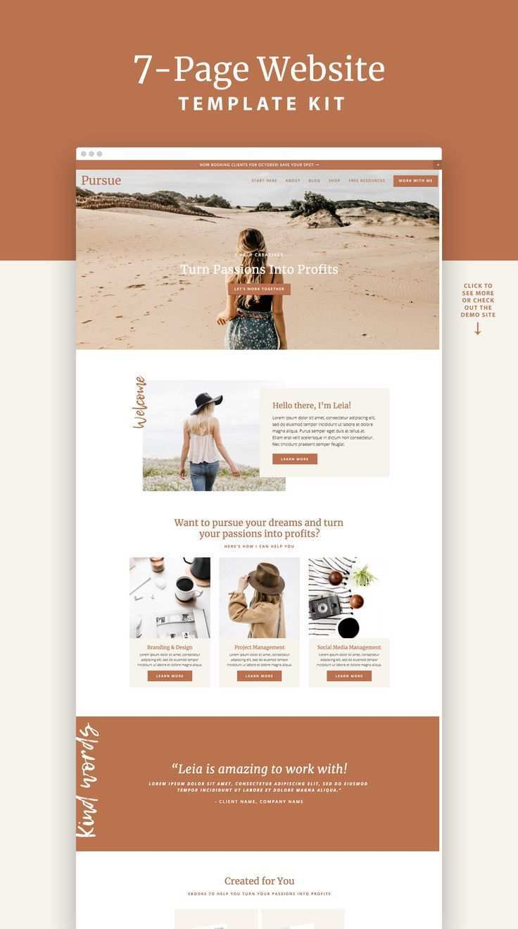 This Pursue Squarespace Website Design Template Kit Is For Bloggers And Service Provid Squarespace Website Design Website Template Design Website Design Layout
