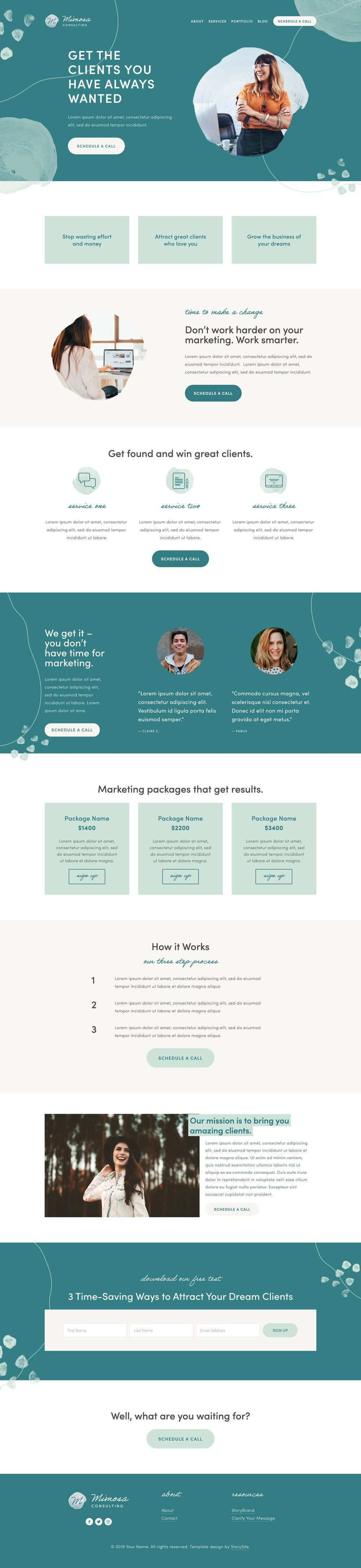 Shop Storybrand Inspired Website Templates Storysite Web Design Mockup Web Layout Design Testimonials Web Design