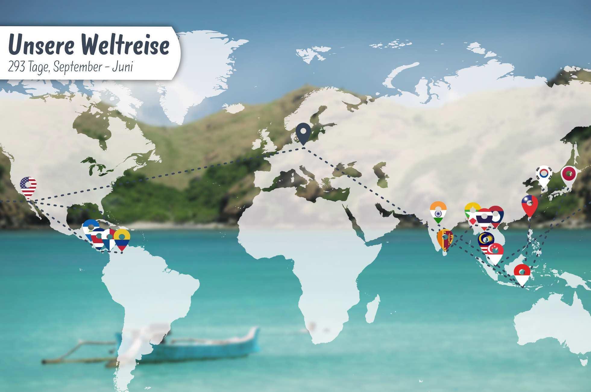 Unsere Weltreise Route 10 Monate Um Die Welt Ferngeschehen