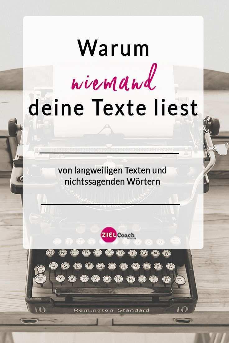 Texte Die Niemand Lesen Will Marketing Positionierung Schreibtipps Blog Schreiben Blog Geld Verdienen