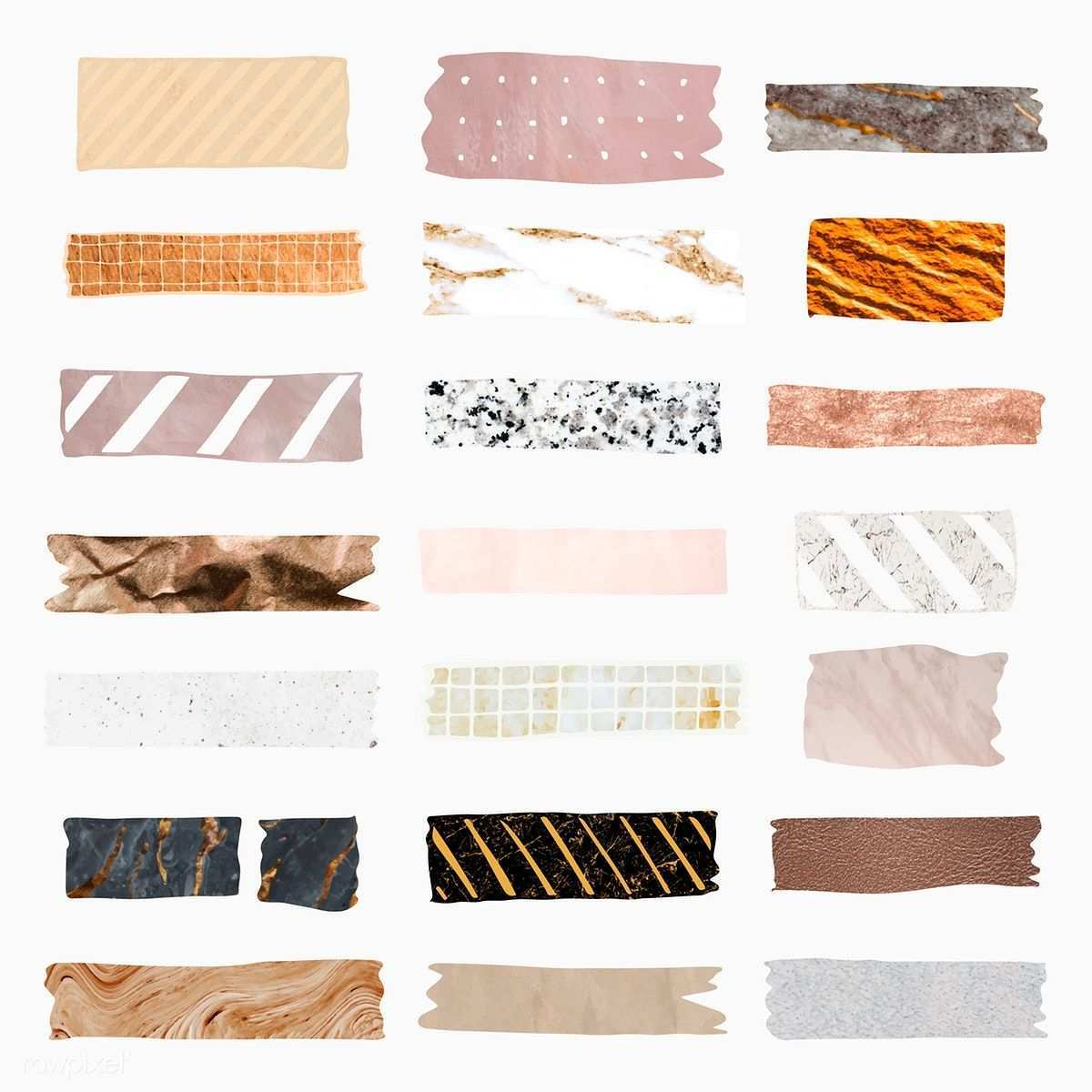 Download Premium Vector Of Collection Of Washi Tape Vectors 2100822 Washi Tape Washi Bullet Journal Stickers