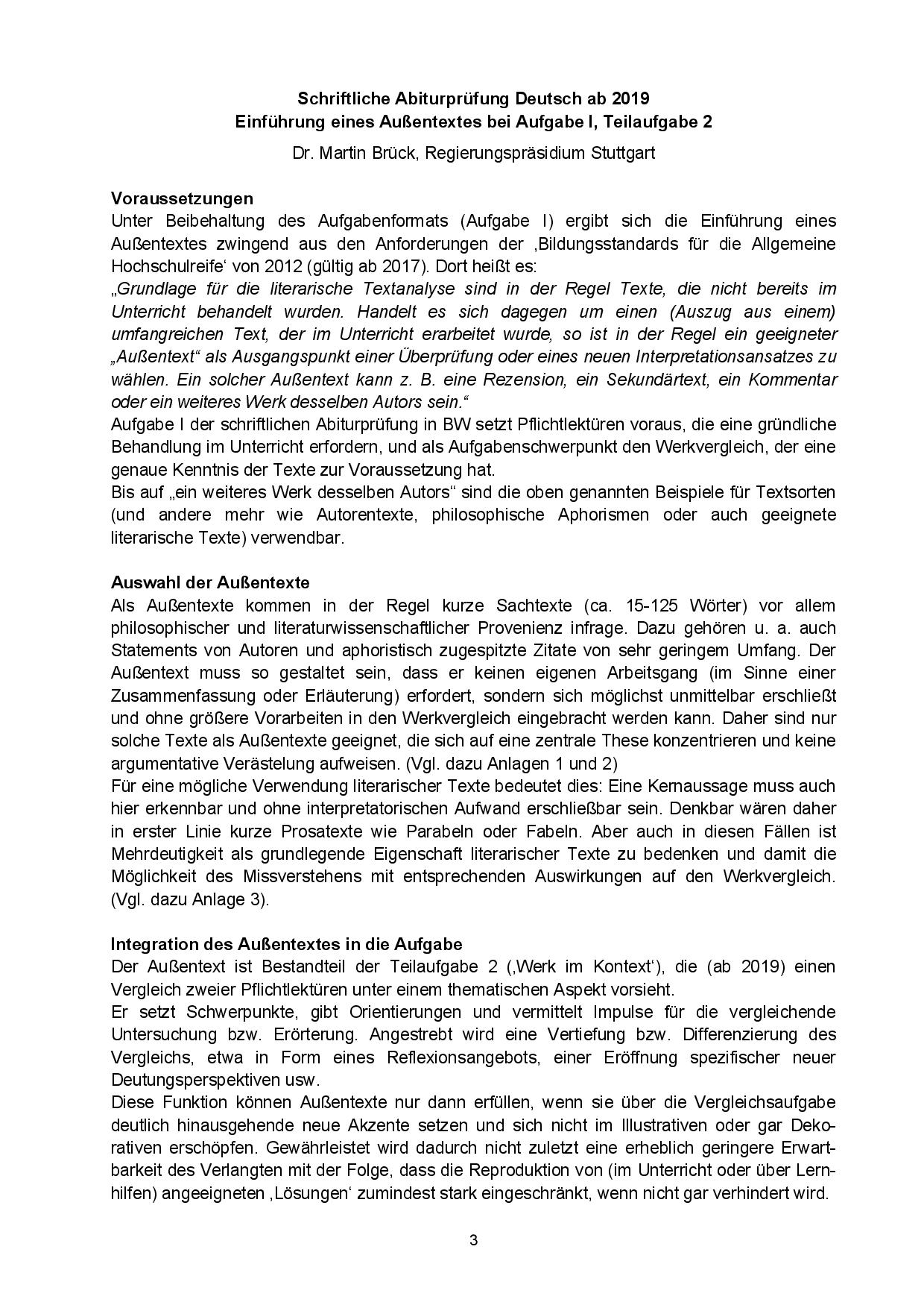 Werkvergleich Mit Aussentext Neue Pflichtlekturen Im Fach Deutsch Ab Abitur 2019 Docsity
