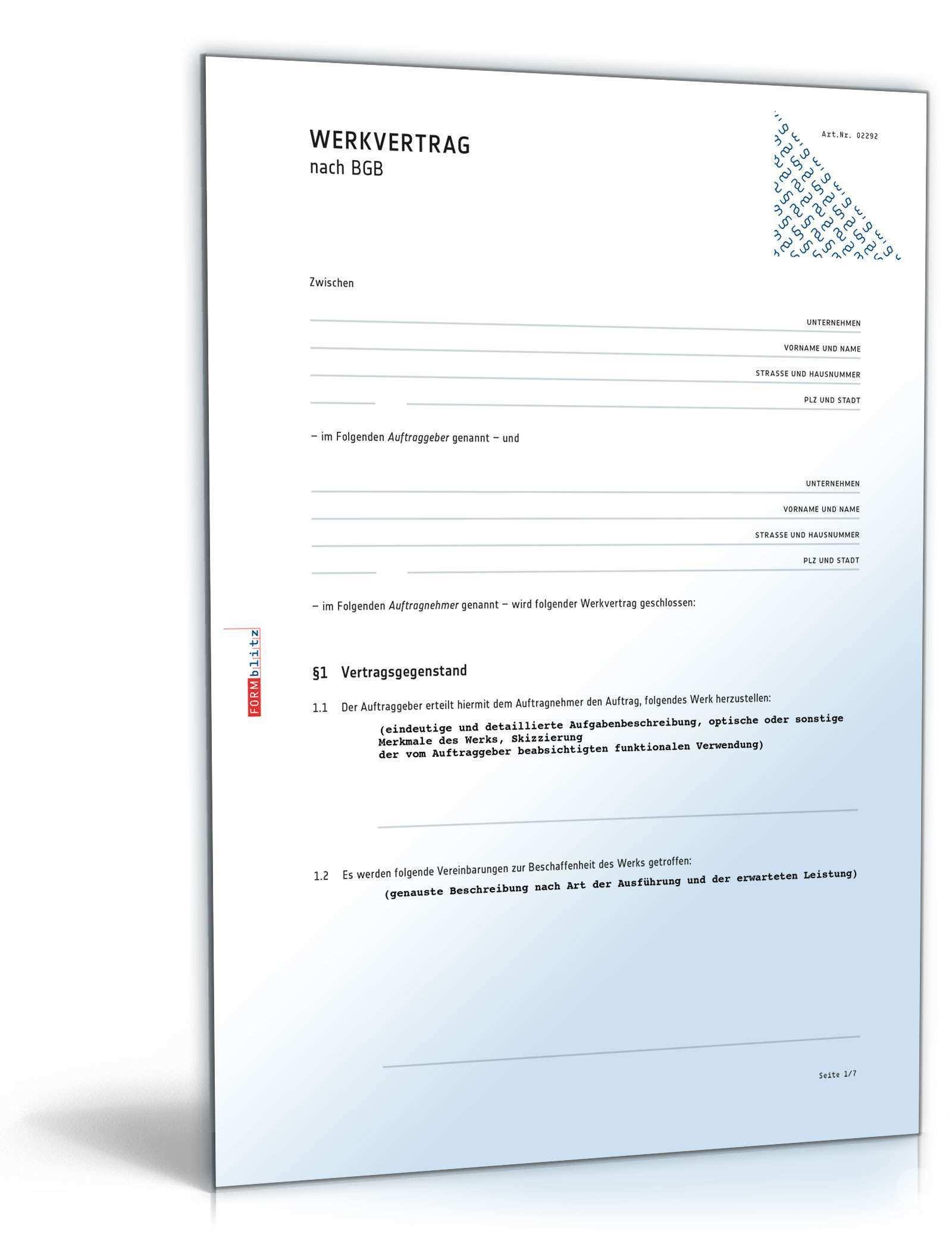Erfolgreich Im Handwerk Vorlagen Vertrage Zum Download