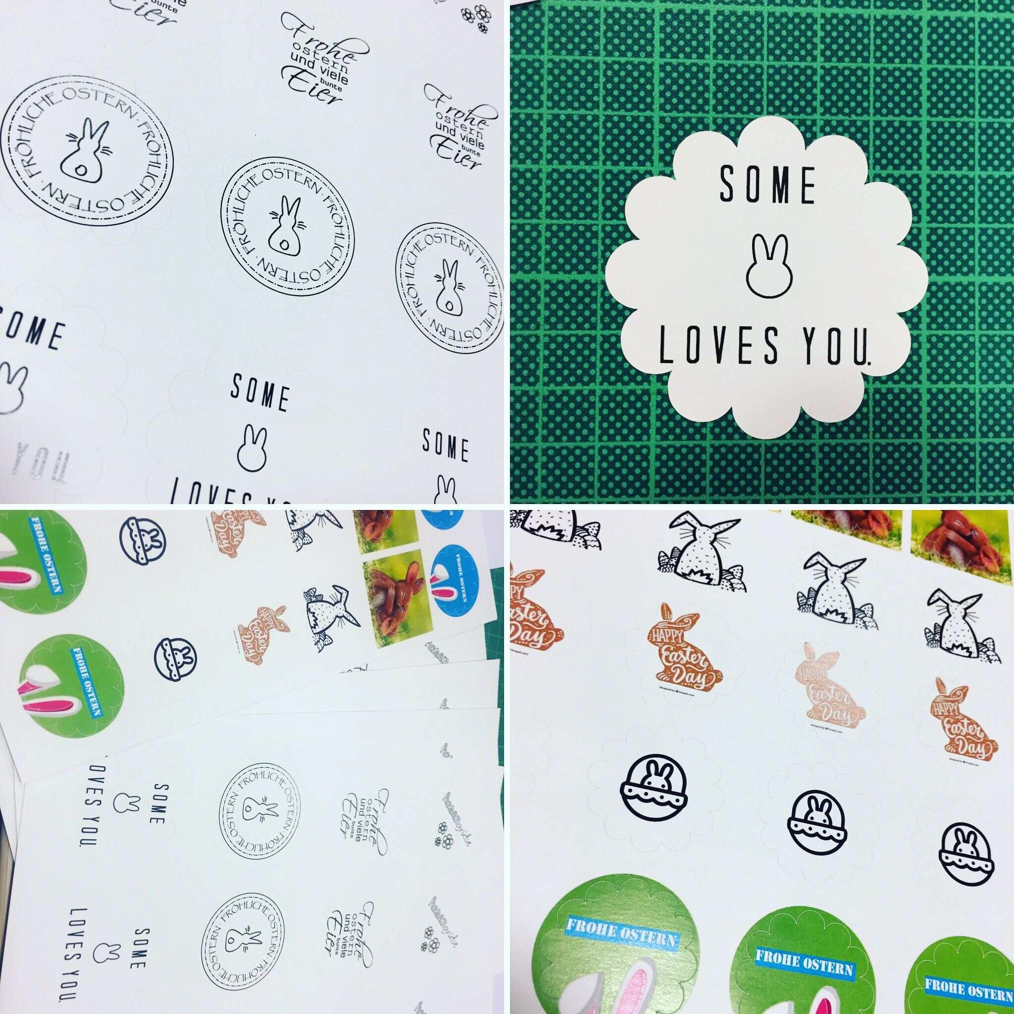 Oster Sticker Diy Print Label Ostern Papieretiketten Etiketten Drucken Ausdrucken