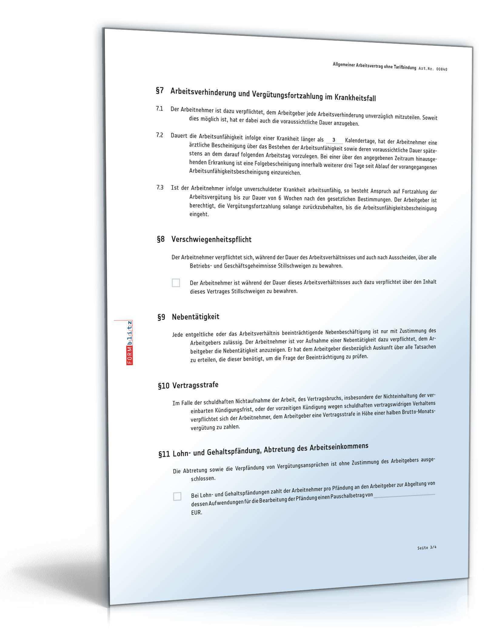 Arbeitsvertrag Muster Aktuelle Vorlage Zum Download