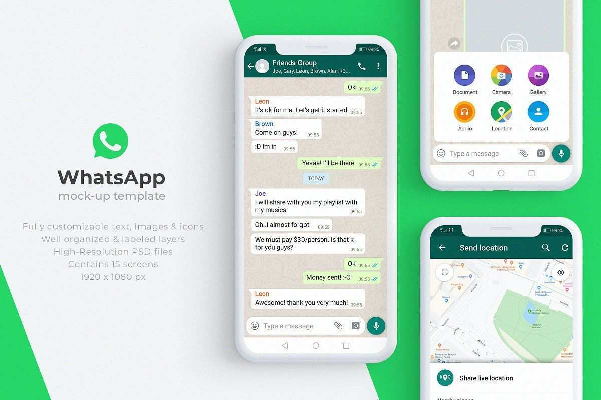Whatsapp Mock Up Template Mockup Templates Mocking