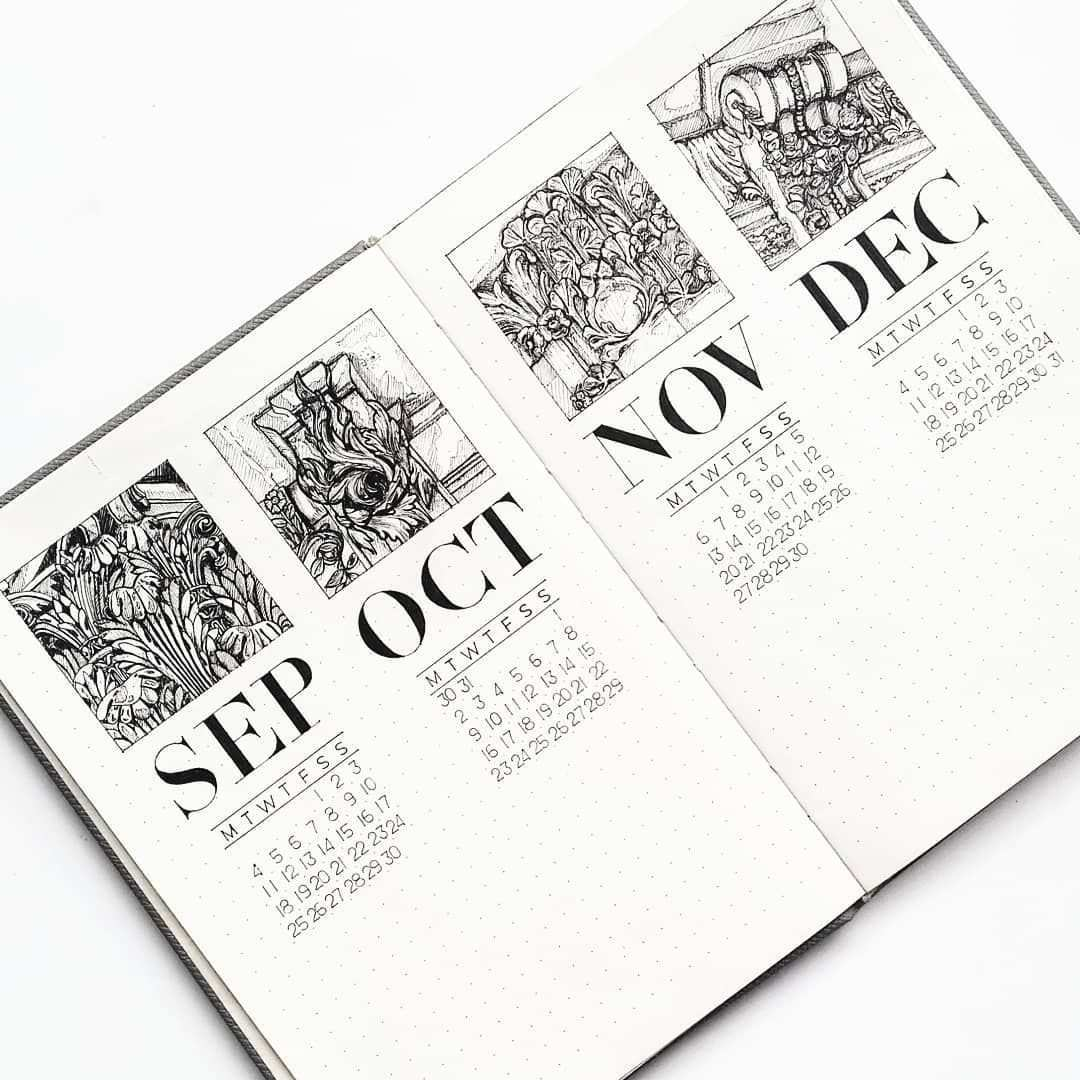 Here S An Example Of How You Can Add Some Illustrations To Your Monthly Log Of Course You Bullet Journal Ideen Bullet Journal Ideen Seiten Tagebuch Schreiben