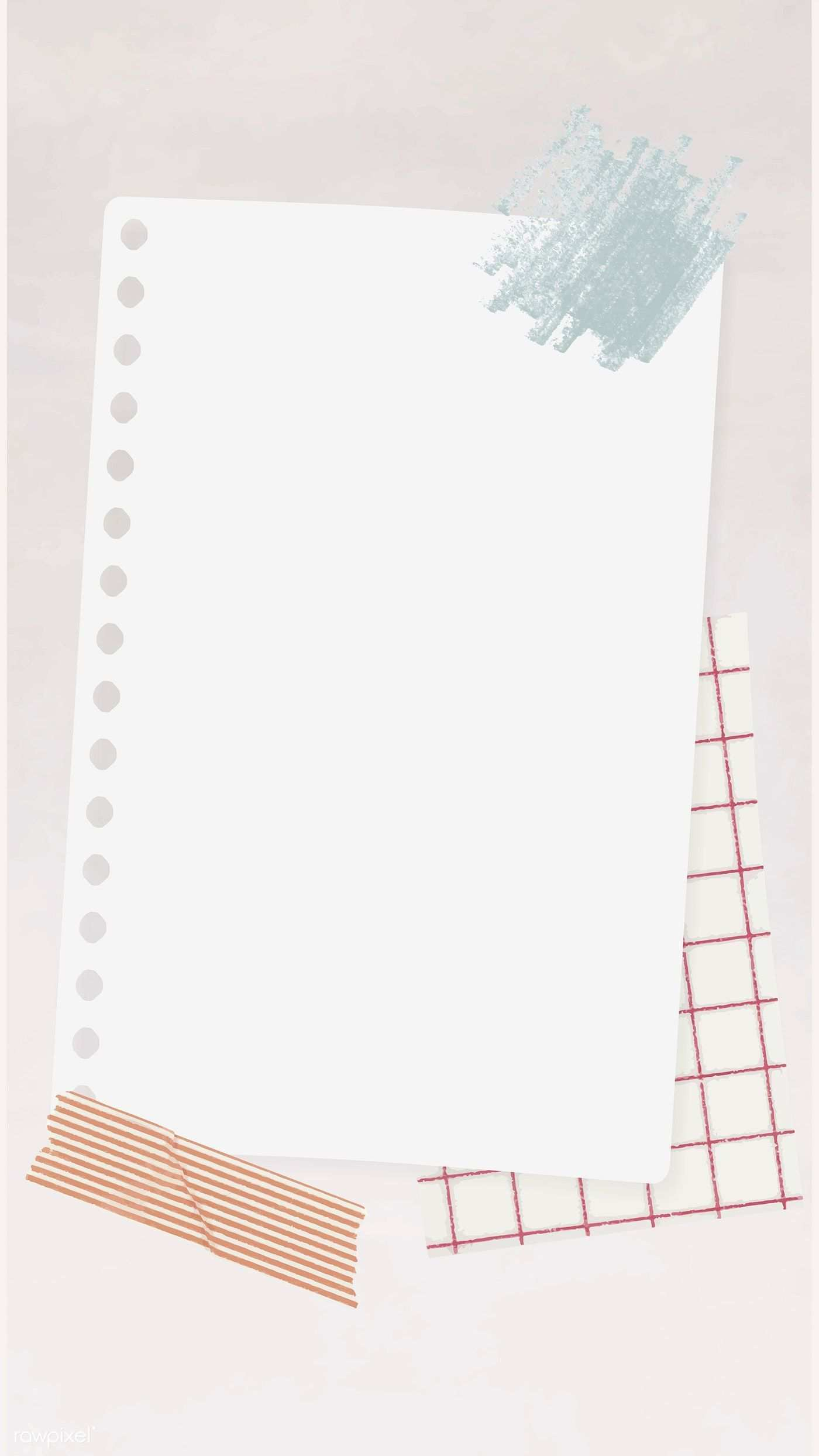 Download Premium Vector Of Blank White Notepaper Template Vector 1216043 Powerpoint Background Design Note Paper Instagram Frame