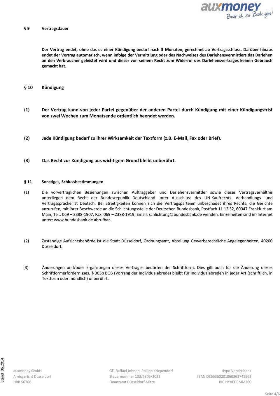 Muster Darlehensvermittlungsvertrag Kfz Pdf Kostenfreier Download
