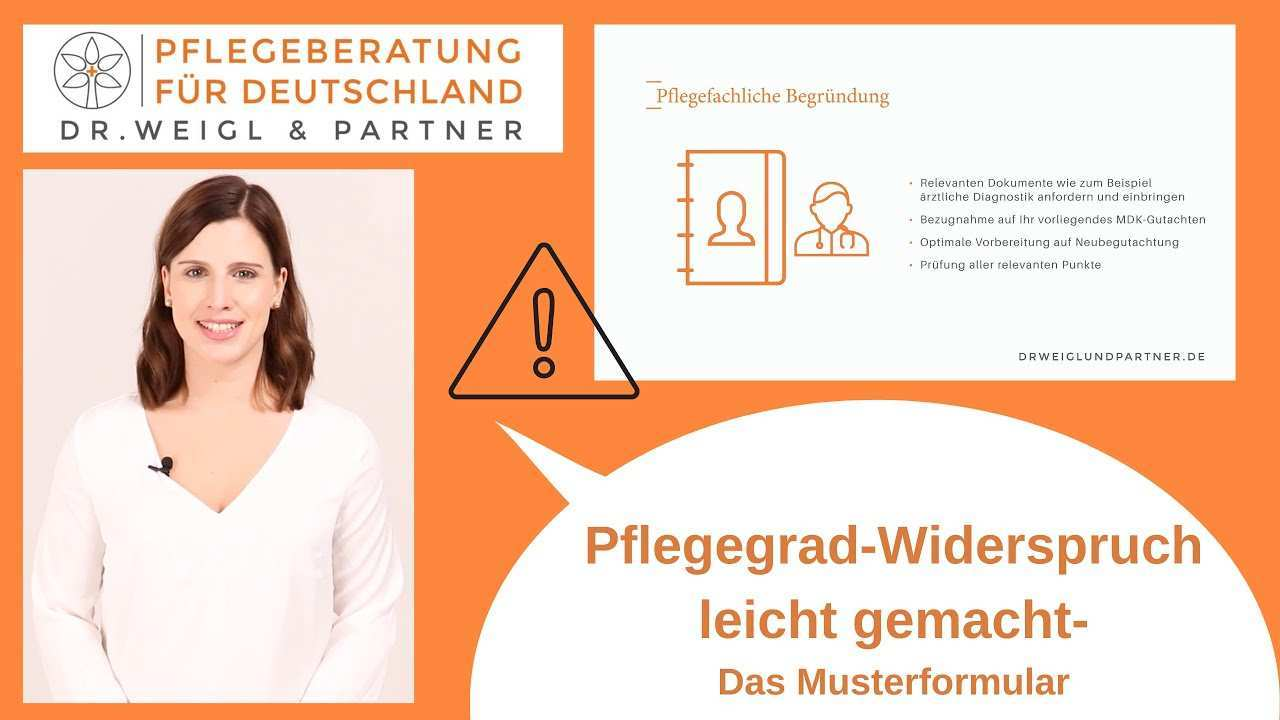 Muster Antrag Zu Ihrem Pflegegrad Widerspruch Dr Weigl Partner