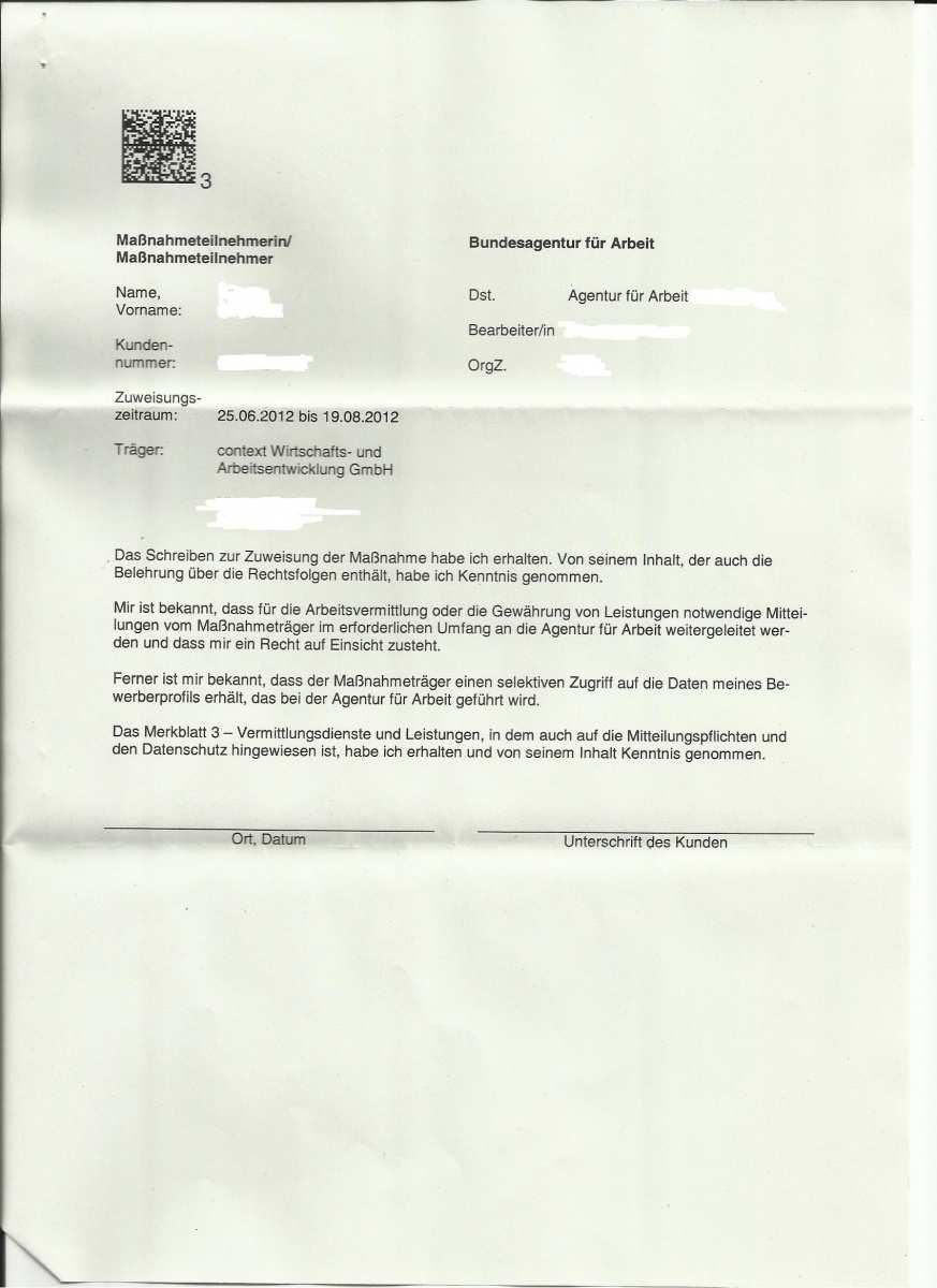 Zuweisung In Massnahme Alg I Was Kann Ich Tun Erwerbslosenforum Deutschland