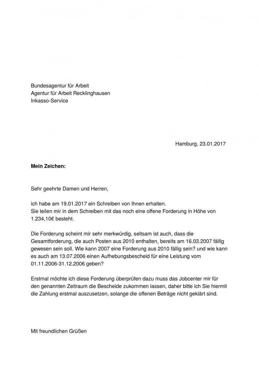 Inkasso Service Recklinghausen Schickt Nach Knapp Zehn Jahren Eine Zahlungserinnerung Erwerbslosenforum Deutschland