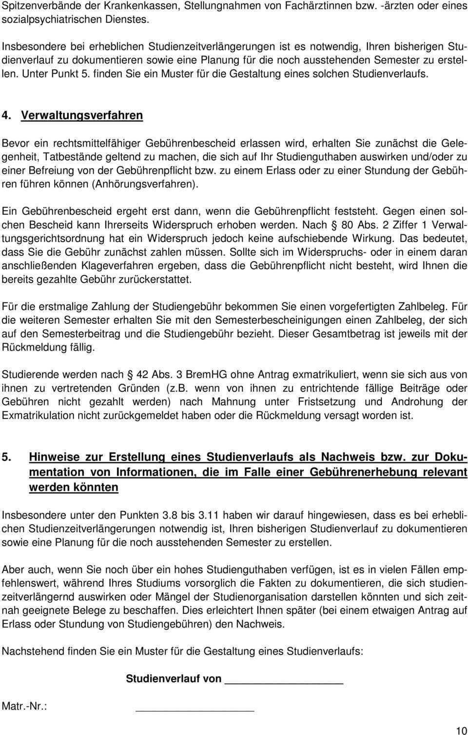 Vertraulich Hinweise Fur Studierende Zu Den Studiengebuhren Der Universitat Bremen Pdf Kostenfreier Download