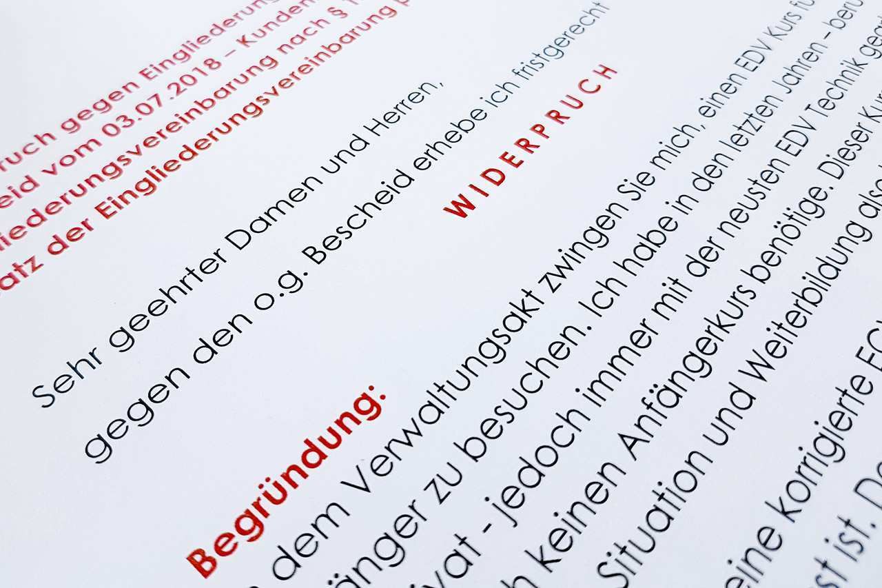 Widerspruch Gegen Die Hartz 4 Eingliederungsvereinbarung