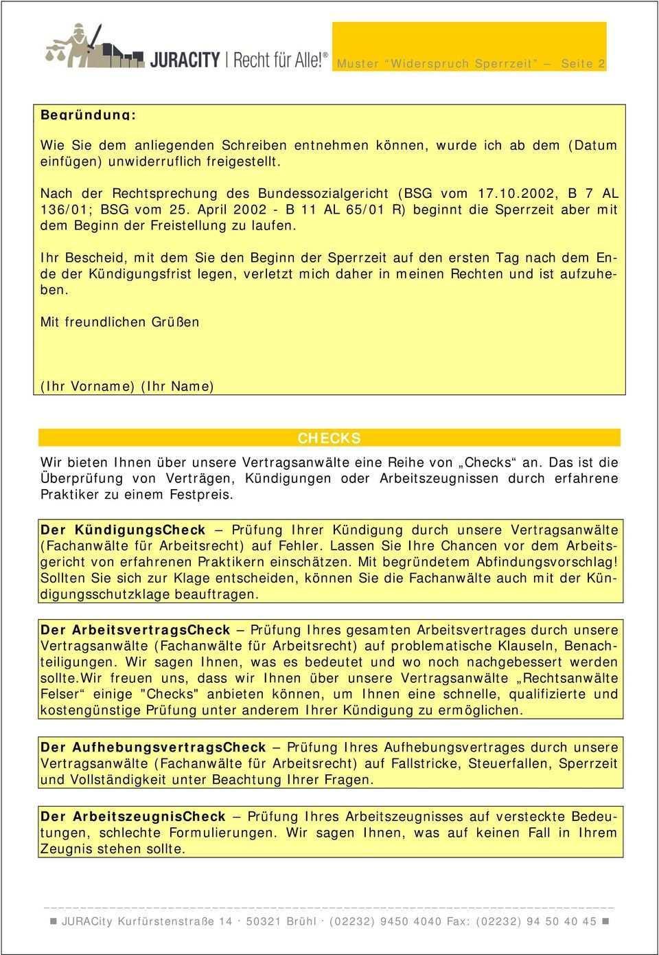 Muster Widerspruch Arbeitsagentur Wegen Sperrzeit Pdf Kostenfreier Download