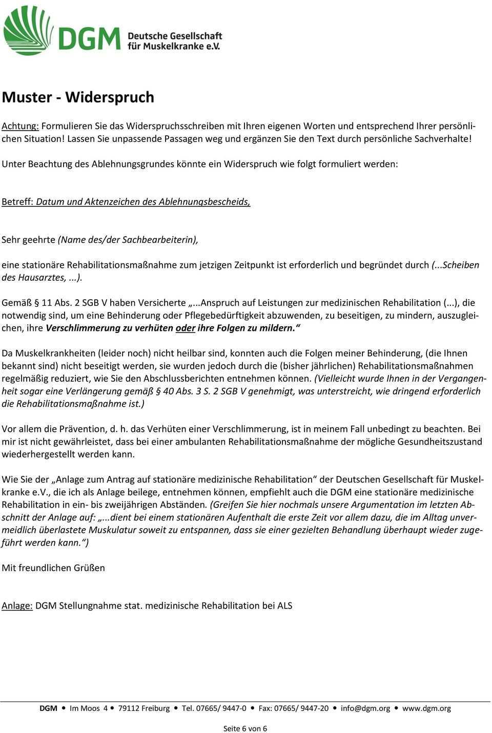 Medizinische Rehabilitation Antrag Und Widerspruch Pdf Kostenfreier Download
