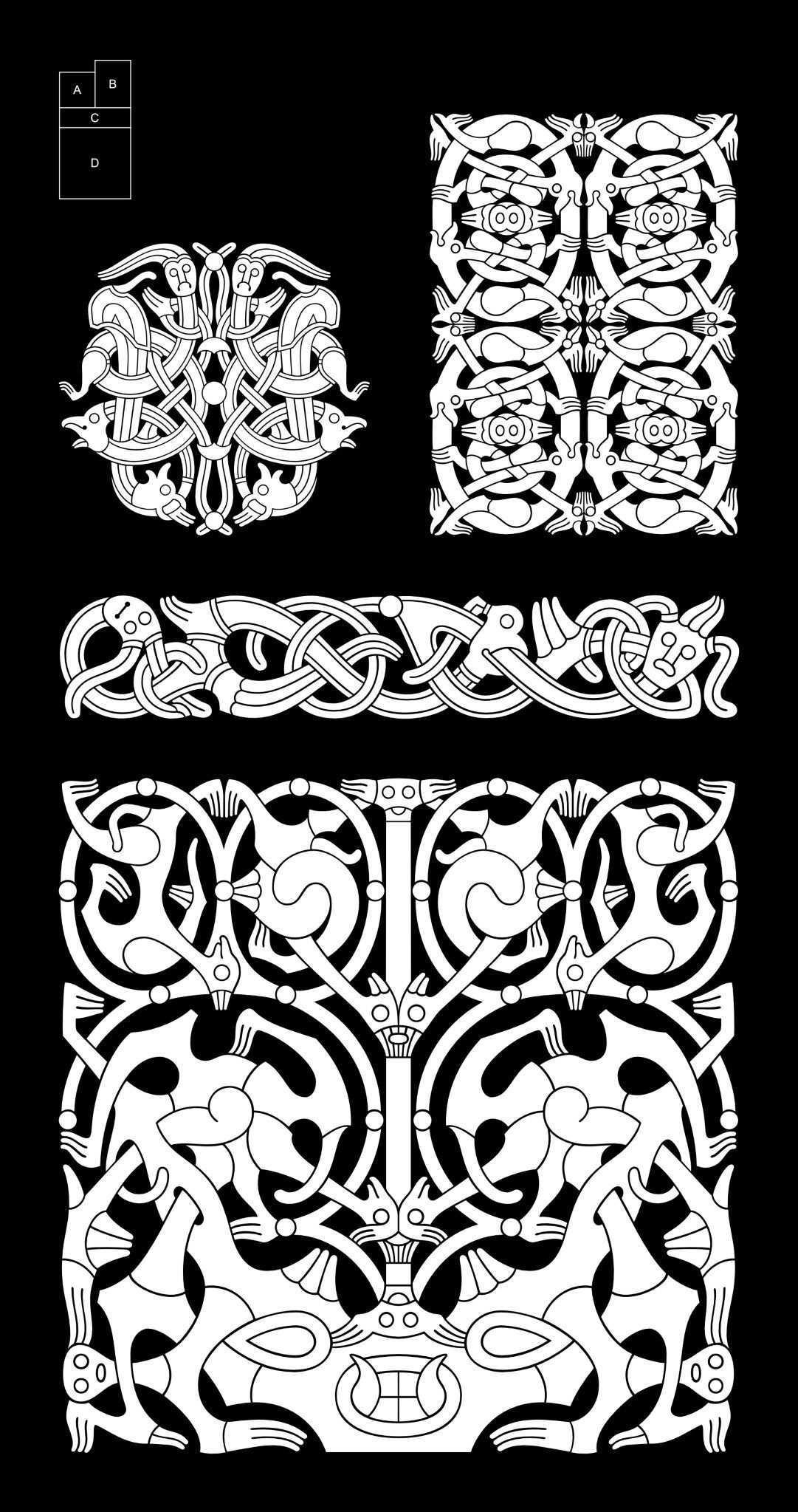 Anatomy Of Viking Art Oseberg Style 800 875 Dessin Viking Celtique Mythologie Nordique