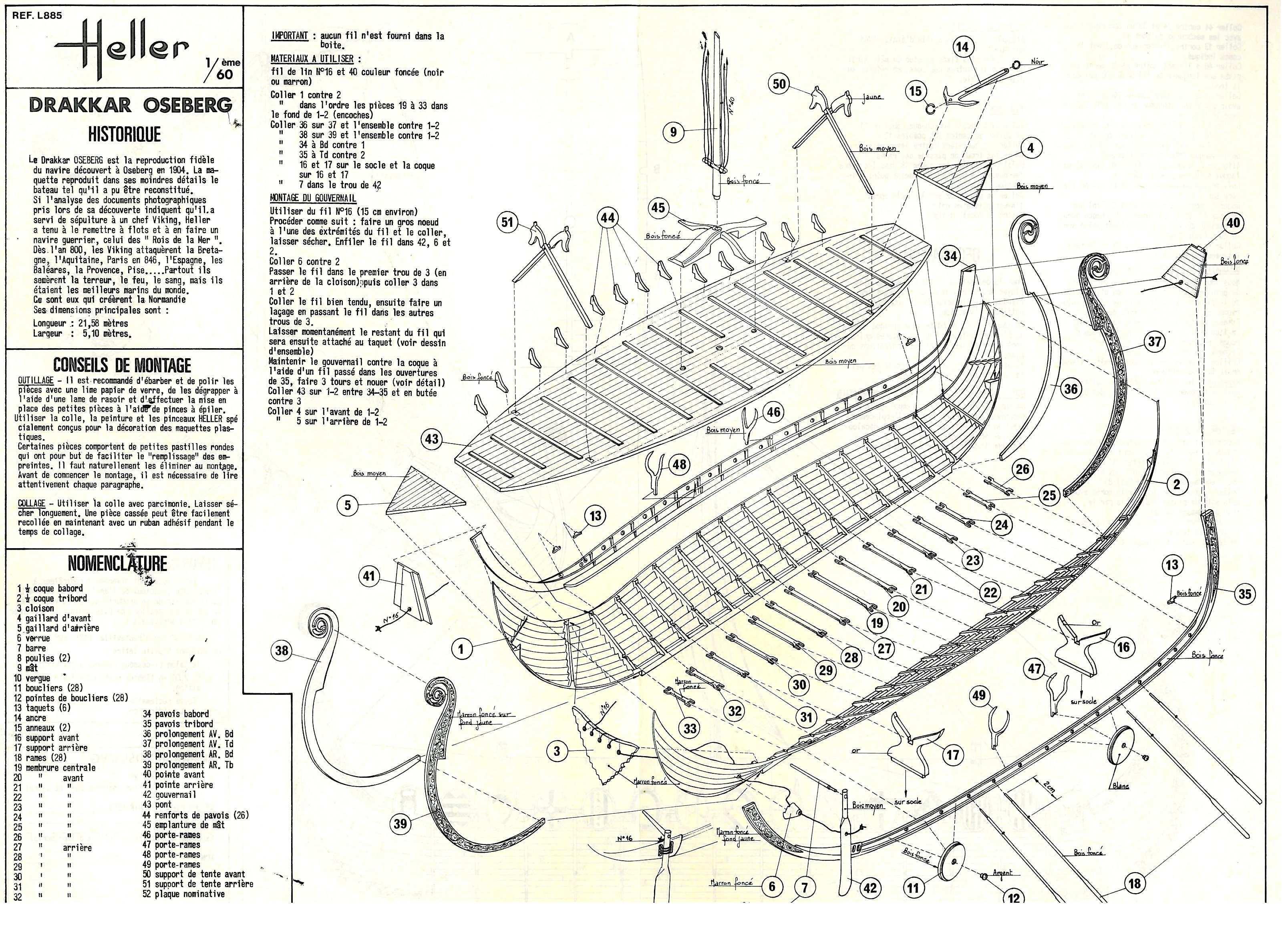 Bauplan Eines Models Des Osebergschiff Wikingerschiff Bootsbau Schiff