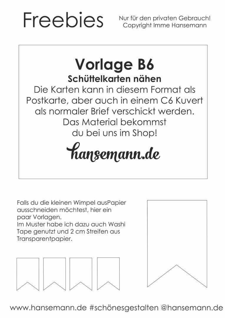 Freebies Fur Wimpelketten Schuttelkarten Hansemann De Schuttelkarten Karten Einladungen