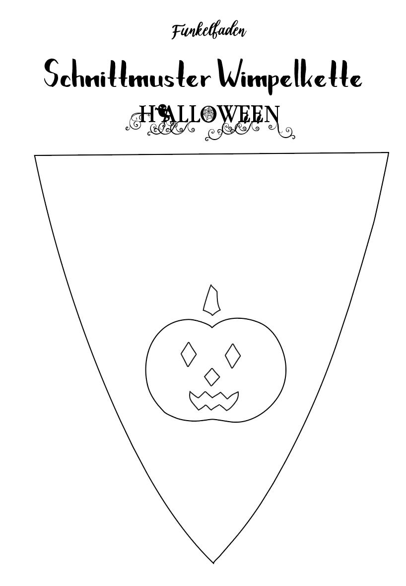 Nahanleitung Wimpelkette Als Dekoration Fur Halloween Nahen Halloween Nahen Wimpelkette Halloweendeko