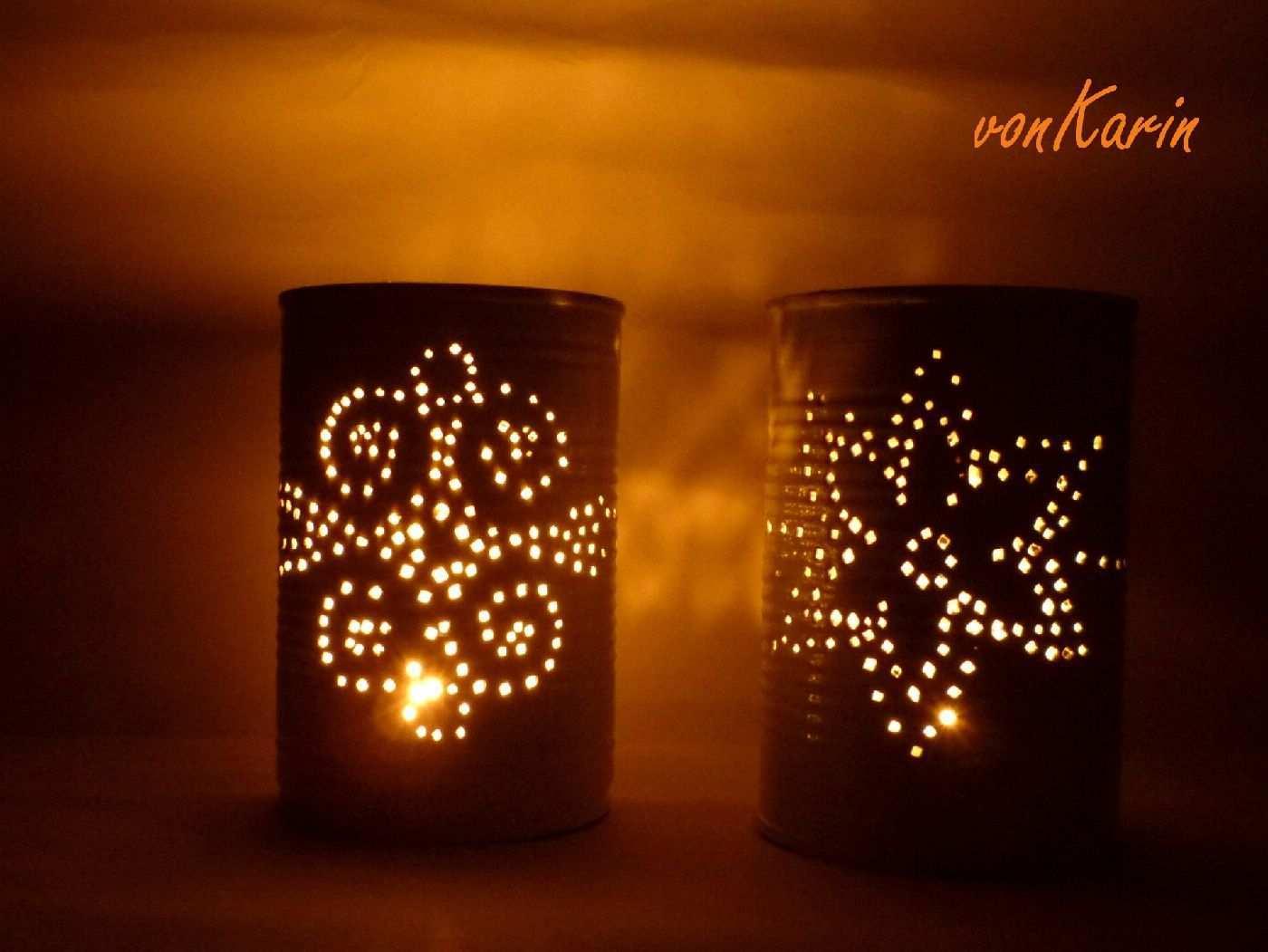 Romantische Laternen Aus Konservendosen Handmade Kultur Konservendosen Basteln Mit Dosen Blechdosen Basteln
