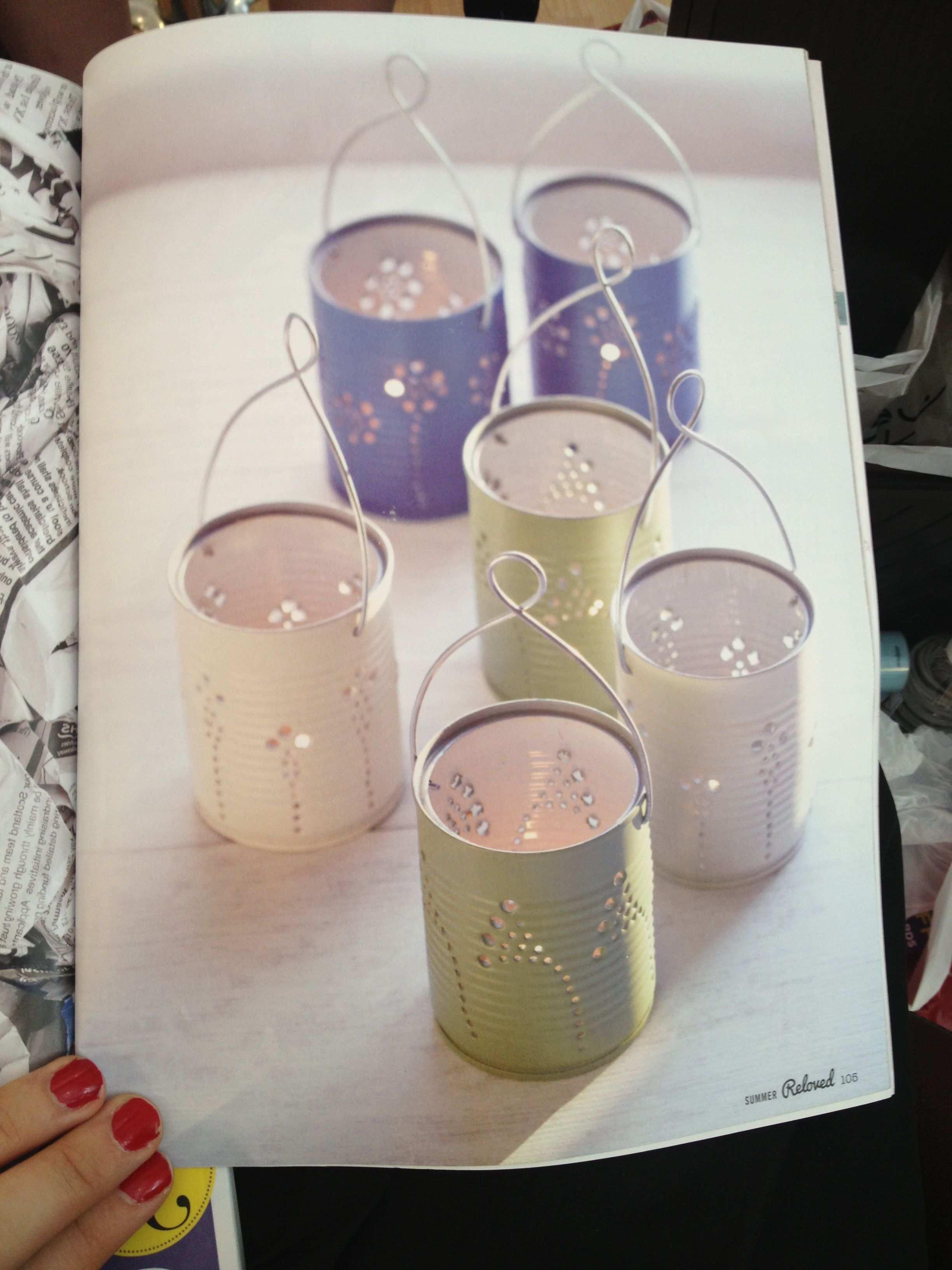 Tin Can Lanterns Laternen Aus Blechdosen Blechdosen Basteln Basteln Mit Blechdosen