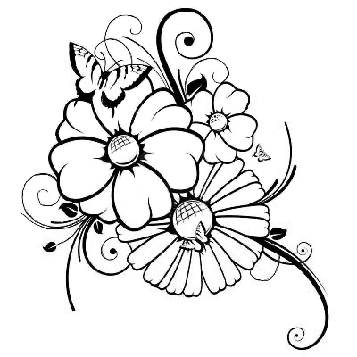 Blumen Ausmalbilder Ausmalbilder Malvorlagen Blumen Blumen Zeichnung