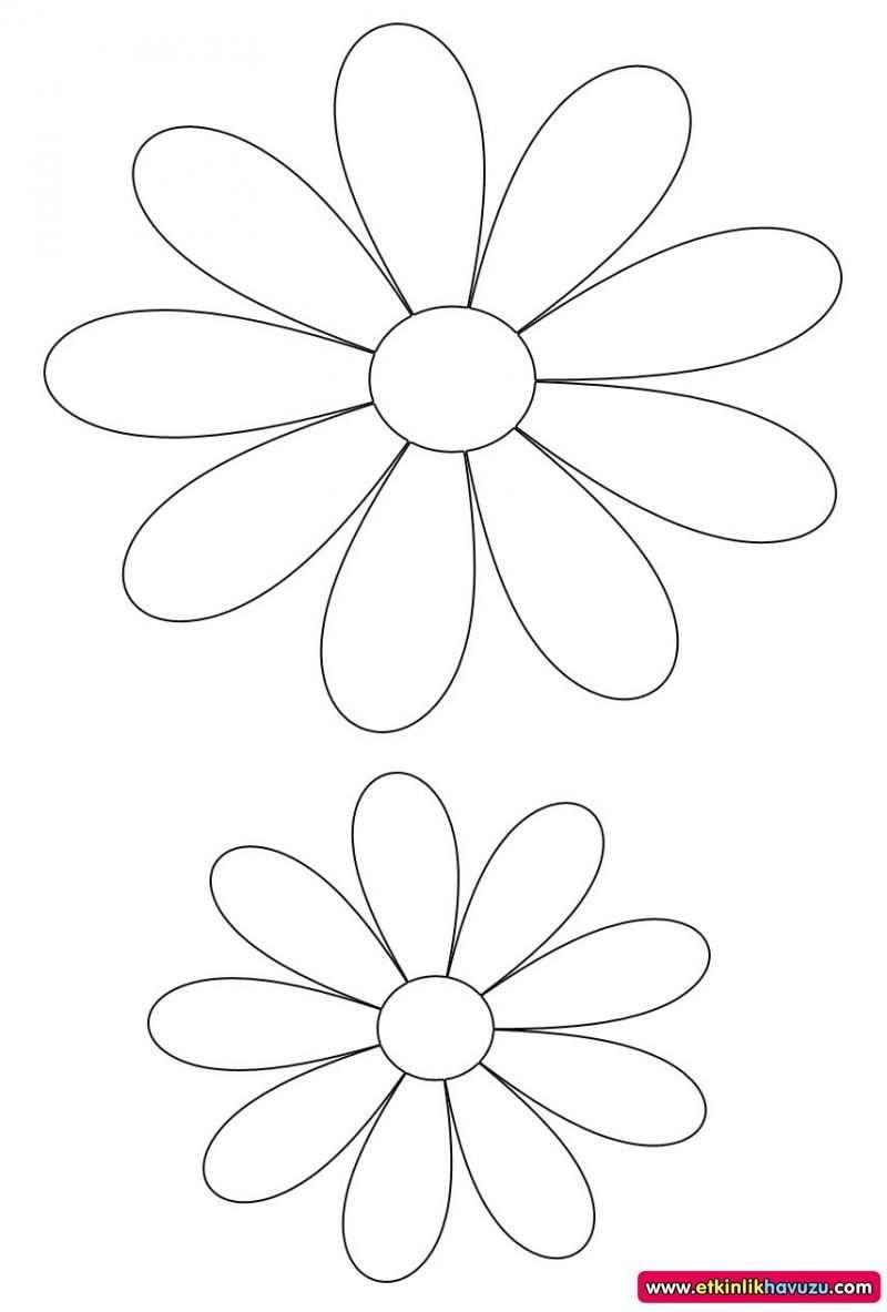 Etkinlik Havuzu Flower Template Paper Flower Patterns Paper Flower Kit