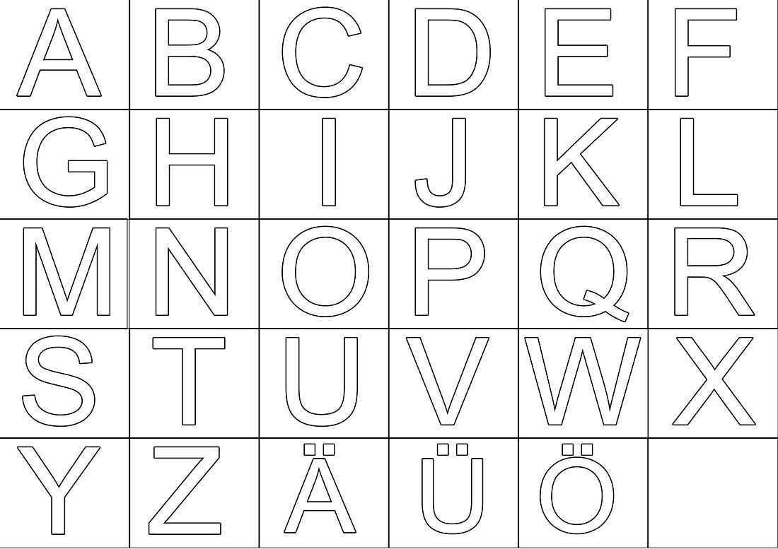 Grossbuchstaben Zum Ausdrucken Buchstaben Vorlagen Zum Ausdrucken Ausmalbilder Zum Ausdrucken Alphabet Malvorlagen