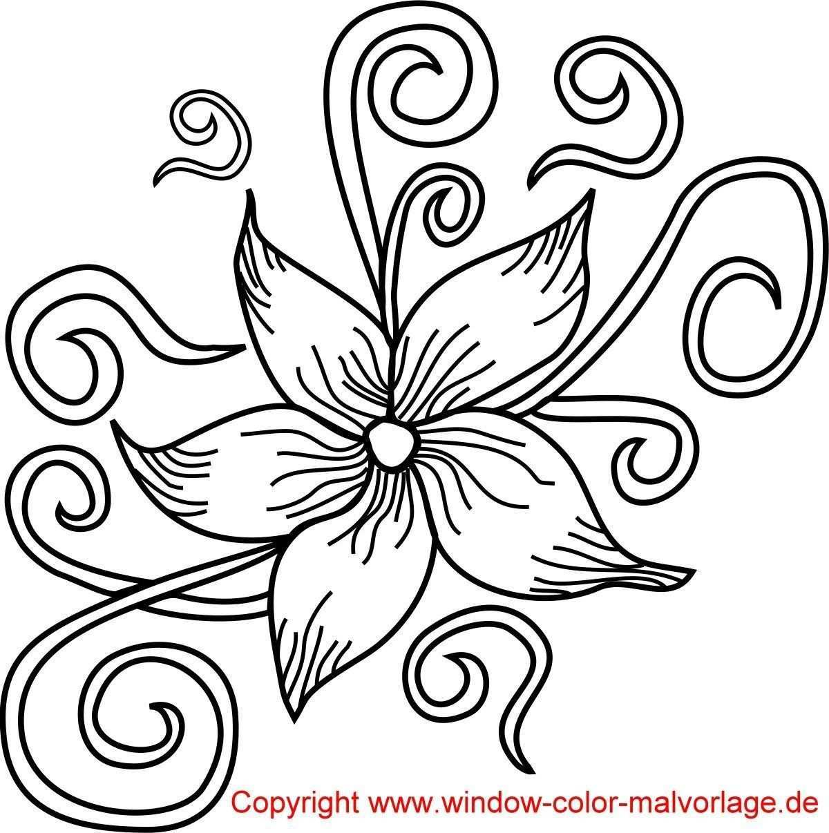 Blumenbilder Malvorlagen Seni