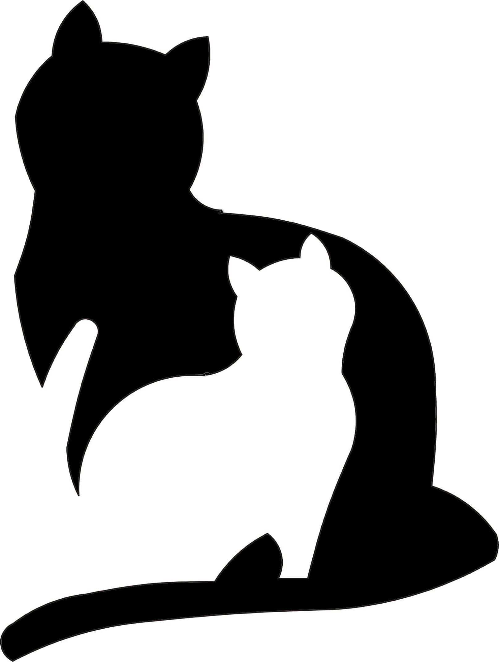 Stancil Schablone 2 Katzen Mehr Applique Pinterest Gato Silhouette Art Cat Art Cat Silhouette