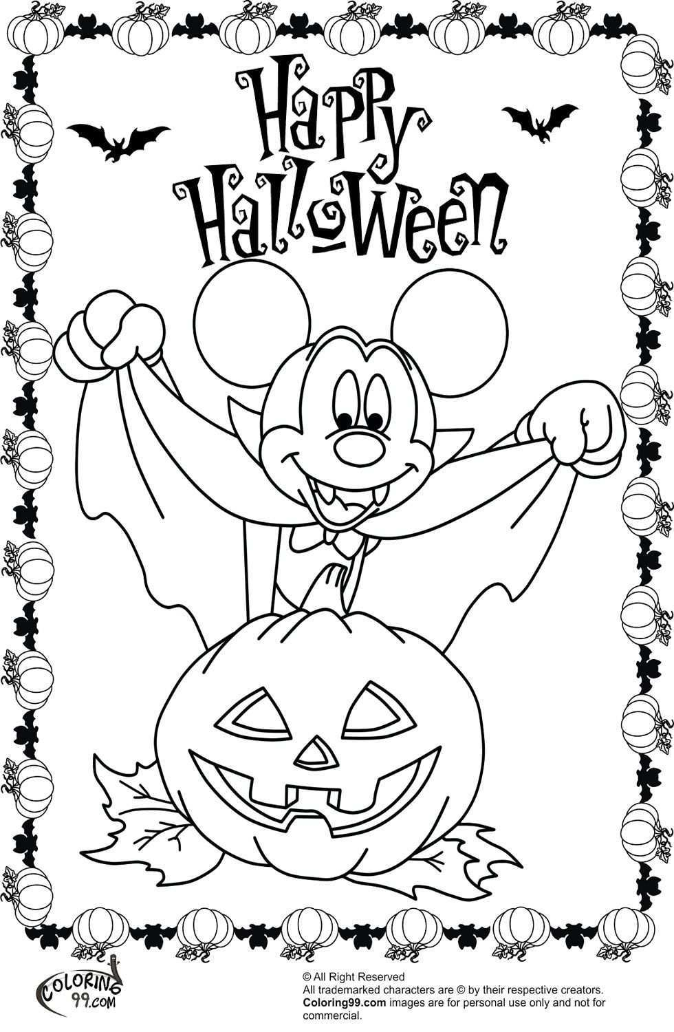 Mickey Mouse Halloween Coloring Sheets Halloween Coloring Halloween Coloring Pages Printable