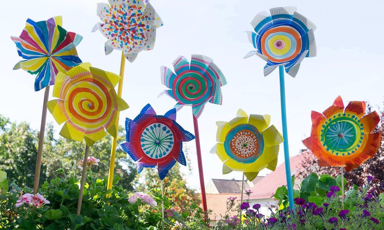 Windrad Aus Einem Pappteller Dm De Windrad Basteln Kreativ Basteln