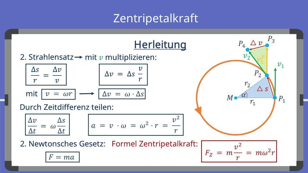 Zentripetalkraft Und Zentrifugalkraft Unterschiede Formel Mit Video