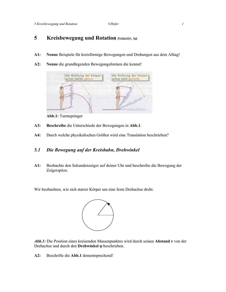 5 Kreisbewegung Und Rotation