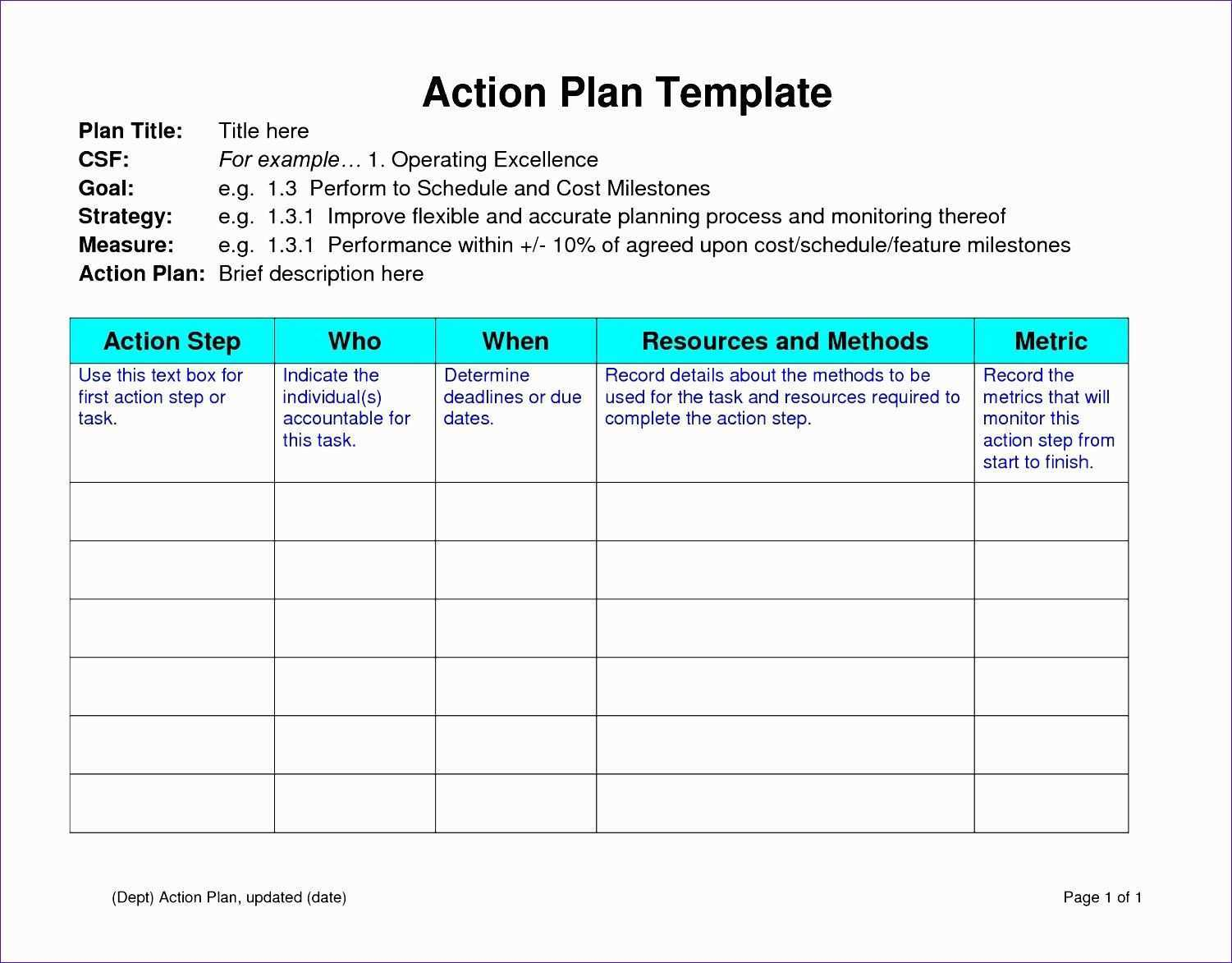Performance Improvement Plan Template Excel Beautiful 12 Sample Action Plan Template Excel Simple Business Plan Template Action Plan Template Smart Action Plan
