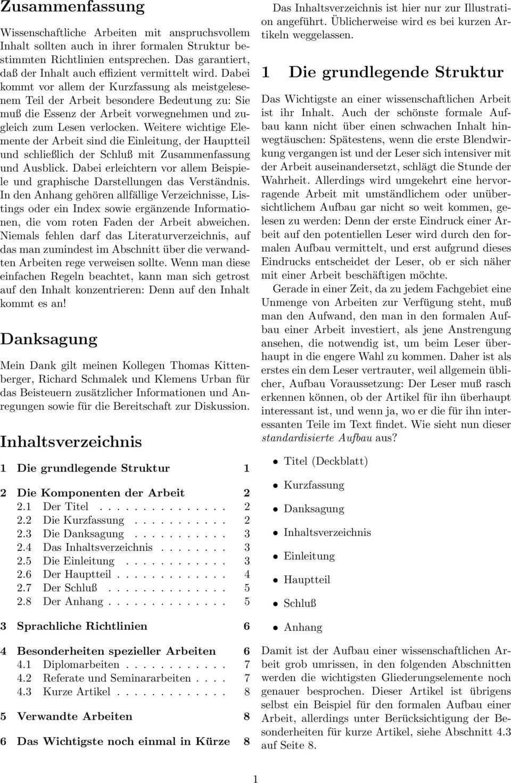 Merkblatt Fur Den Aufbau Wissenschaftlicher Arbeiten Pdf Free Download