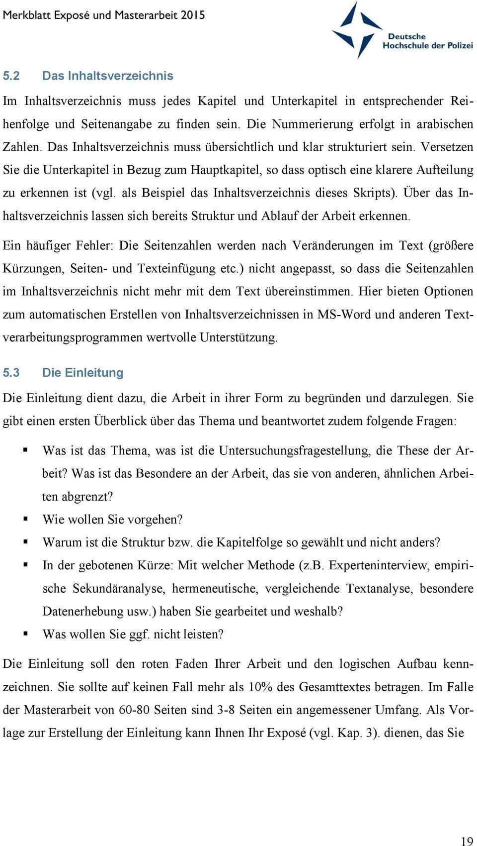 Merkblatt Expose Und Masterarbeit Pdf Free Download