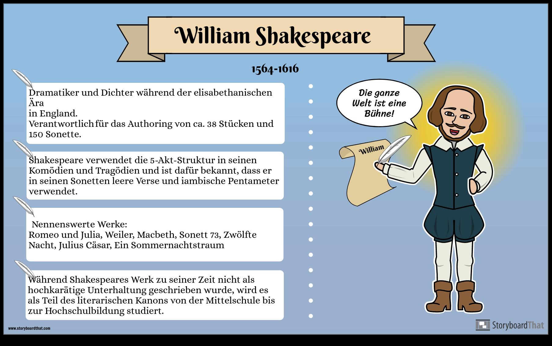 Biografie Poster Beispiel Storyboard Von De Examples