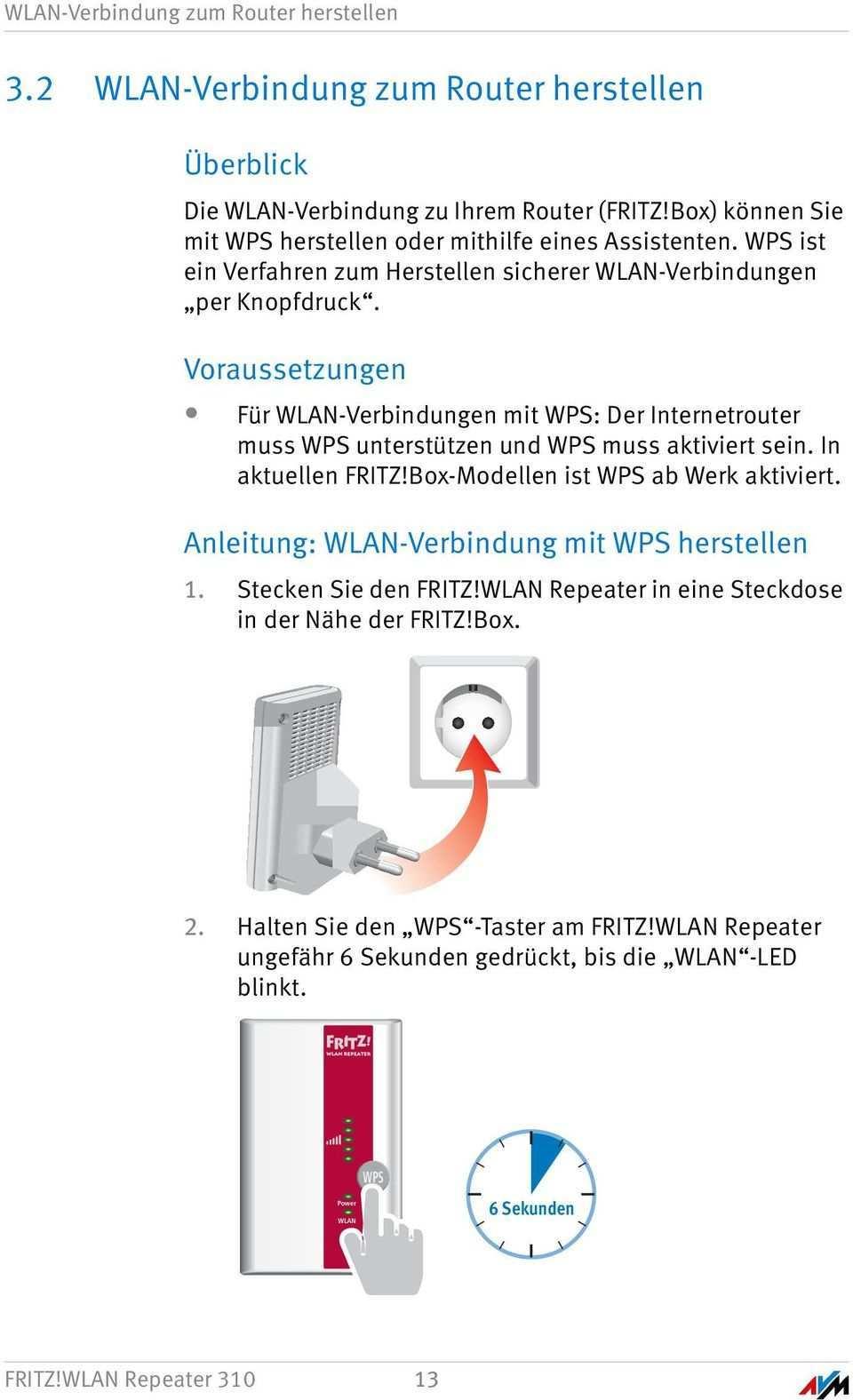 Fritz Wlan Repeater 310 Einrichten Und Bedienen Pdf Free Download