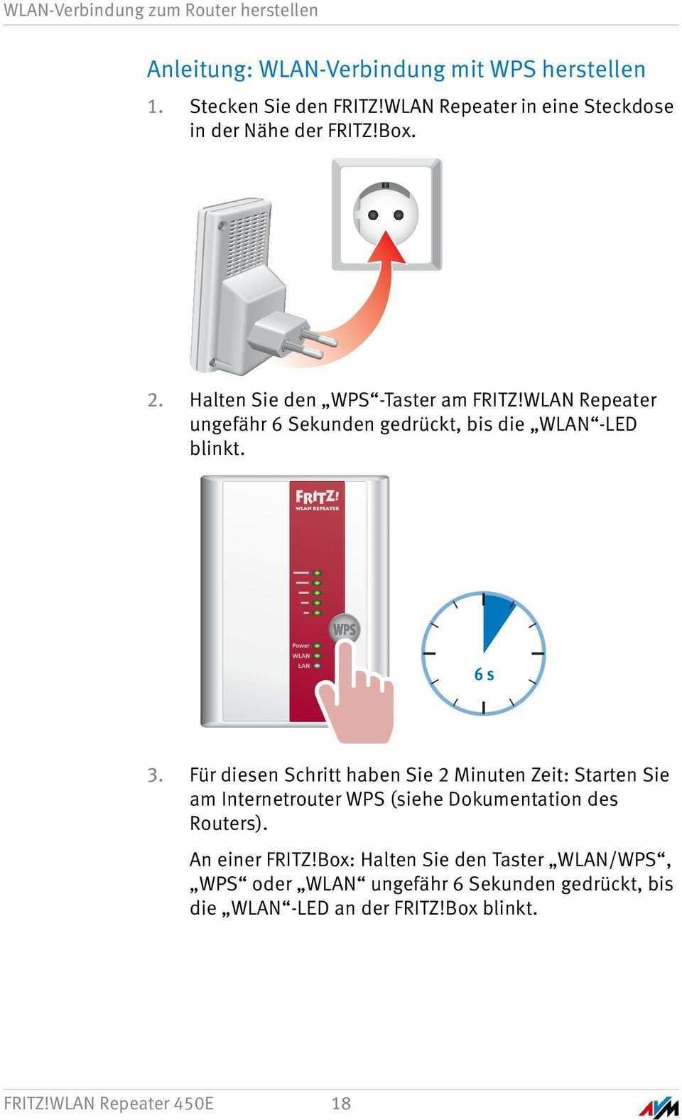 Fritz Wlan Repeater 450e Einrichten Und Bedienen Pdf Kostenfreier Download