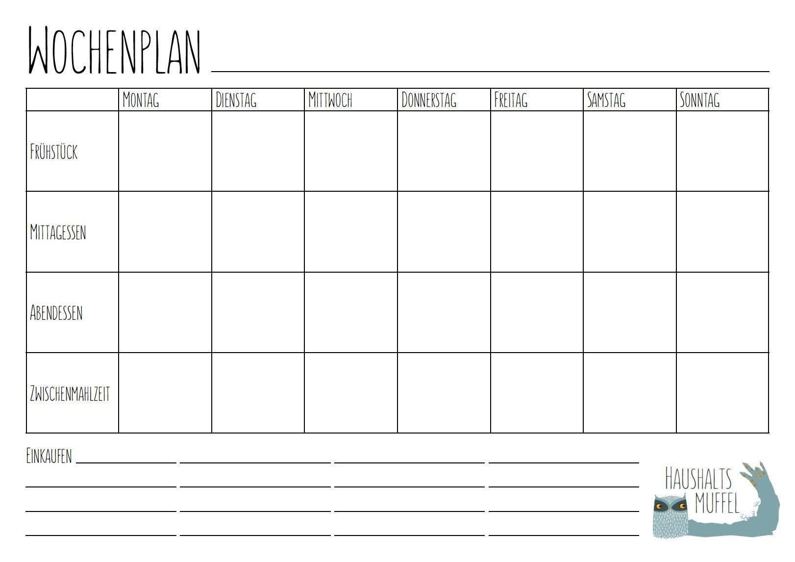 Menu Wochenplaner Download Planer Wochen Planer Planer Vorlagen