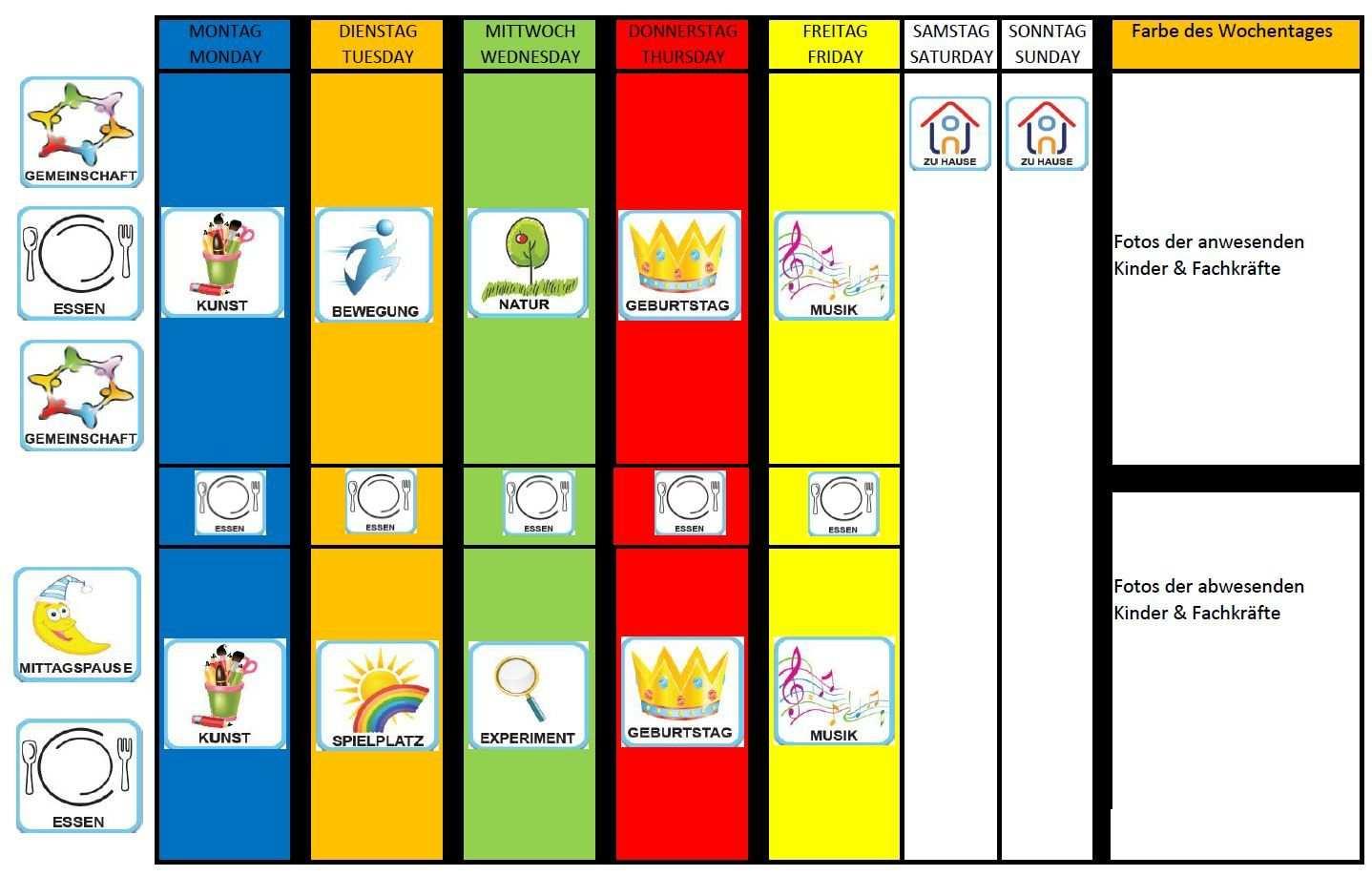 Pin Von Erika Auf Kindergarten Wochen Planer Planer Projektplan Vorlage
